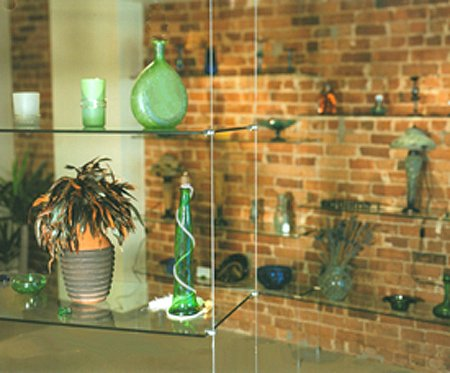 Hanging Glass Shelves Cable Systems