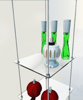 Rod Systems to make Floating Glass Shelves