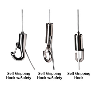 MBS cable hooks for art hanging