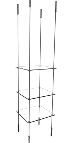 "Suspended Shelving kit for 12""x12"" shelves"