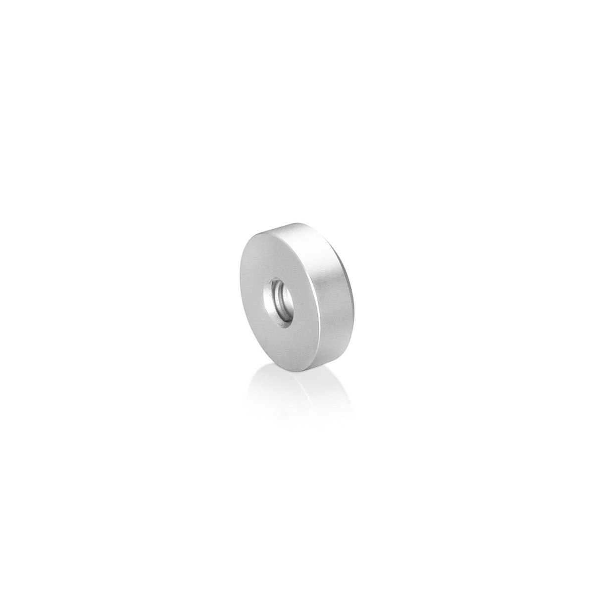 1/4-20 Threaded Caps Diameter: 3/4'', Height: 1/4'', Clear Anodized Aluminum