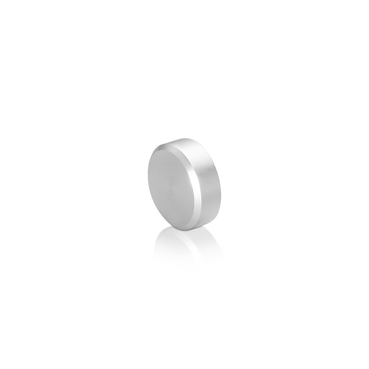 1/4-20 Threaded Caps Diameter: 3/4'', Height: 1/4'', Clear Anodized Aluminum