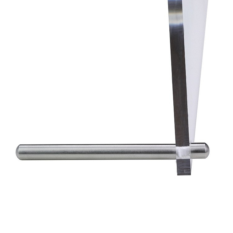 1/4'' Diameter x 2'' Length Conical Desktop Table Standoffs (Stainless Steel Satin Brushed Standoffs)