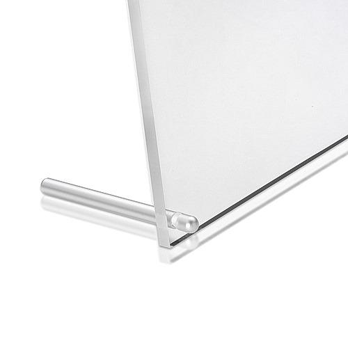Aluminum Clear Anodized Desktop Table Standoffs, Diameter: 5/16