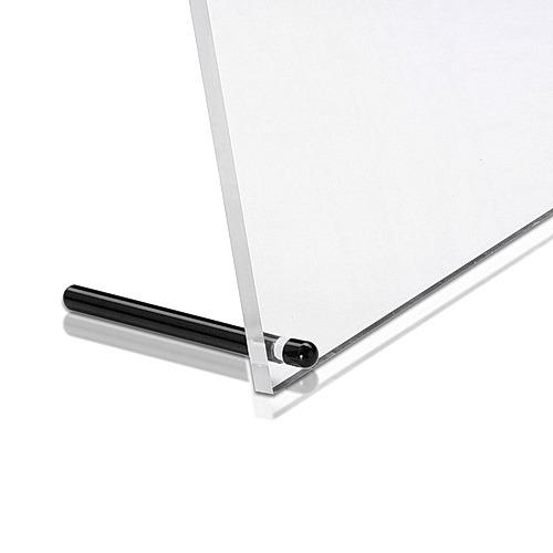 Stainless Steel Desktop Table Standoffs, Diameter: 1/4'' x 3'' Matte Black