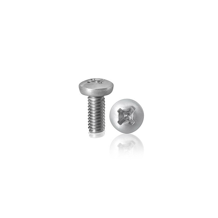 Machine screws, Phillips pan head, Zinc plated steel, 10-24 x 1-1/2''