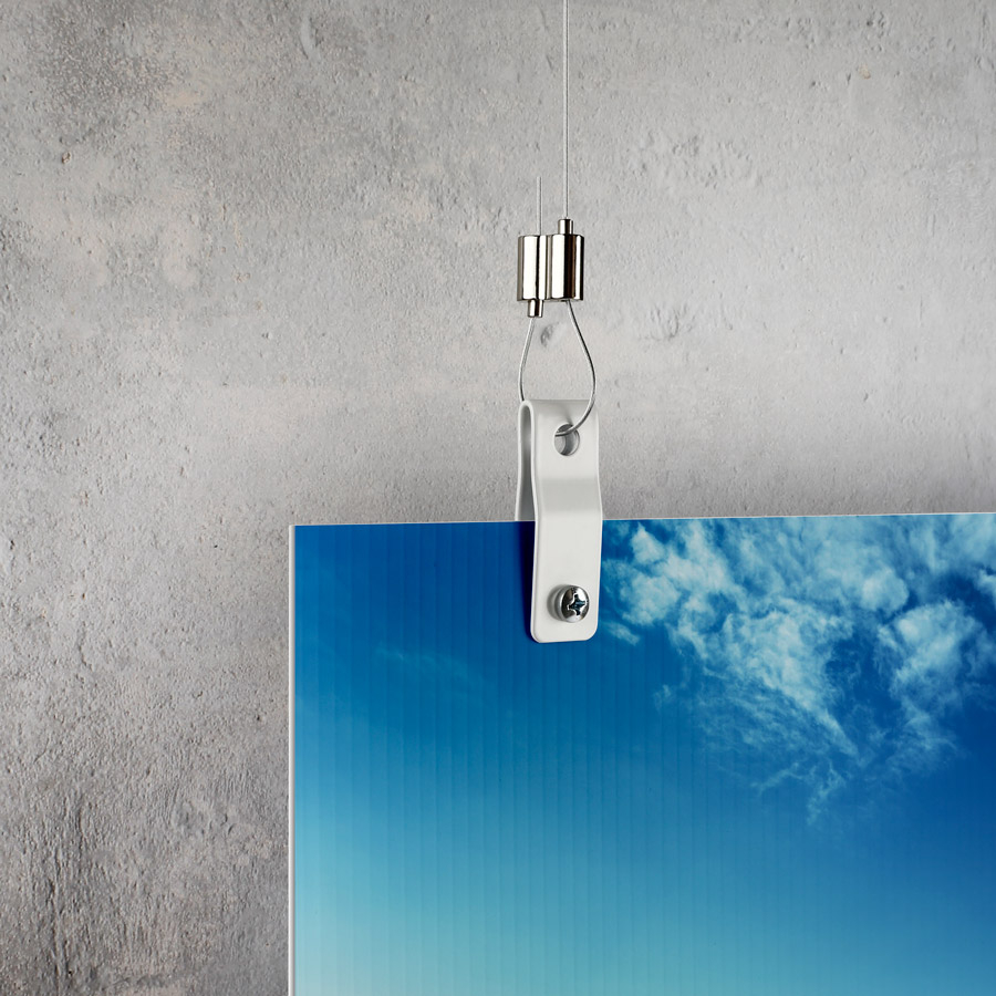 1/2'' Stainless Steel Sign Hanger For Panels Up To 1/2''