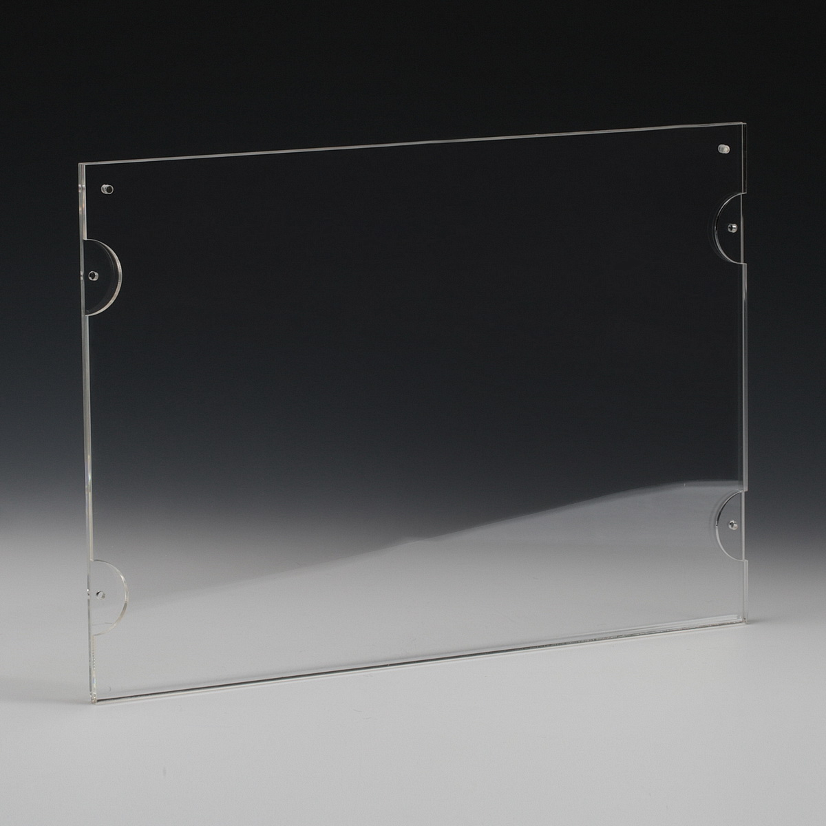 Clear Acrylic Wall Frame with magnets, accommodates 11 x 8.5'' media  (sold Without Hardware)
