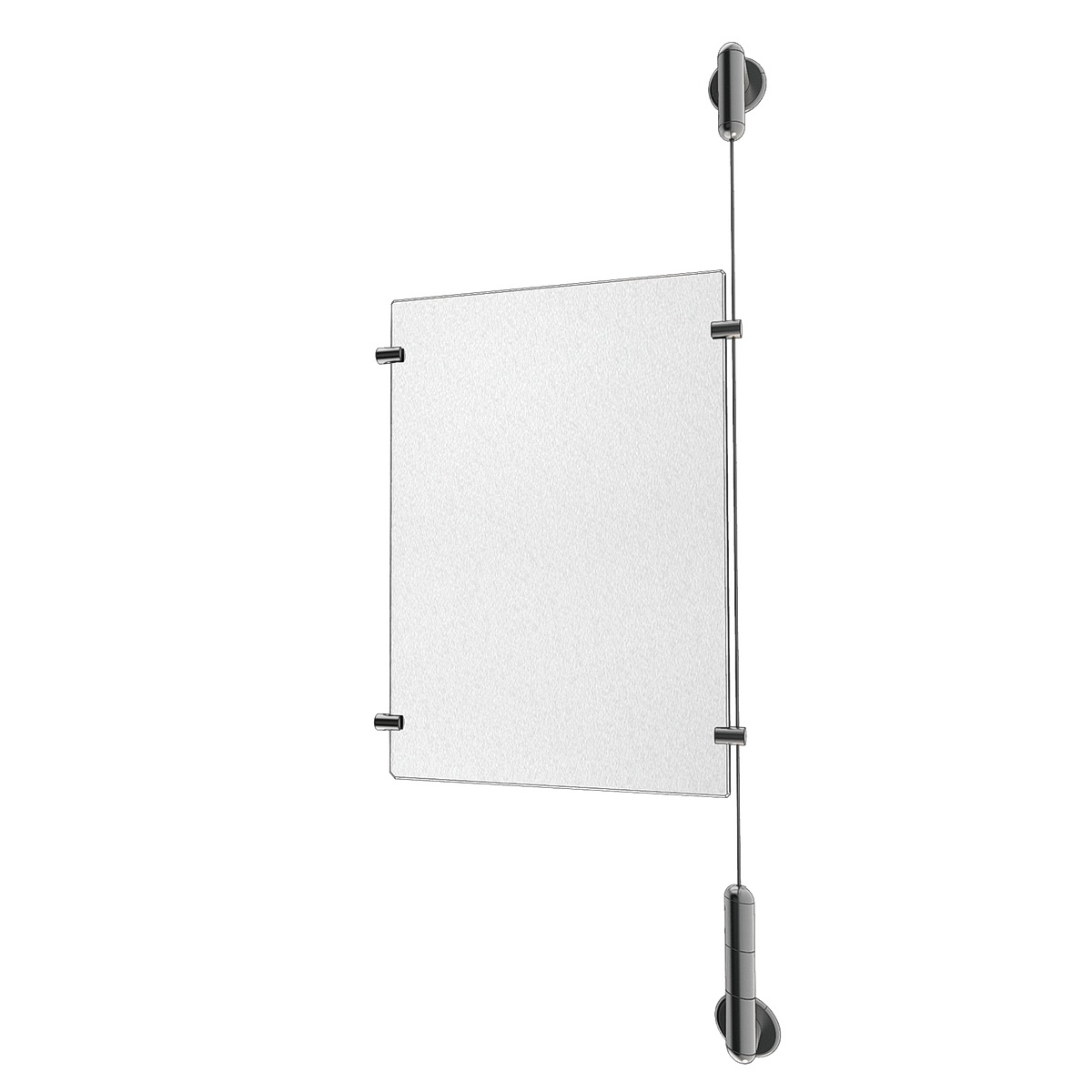 Clear Acrylic Sign Holder Extension Kit for Media 1 x 8.5'' x 11''