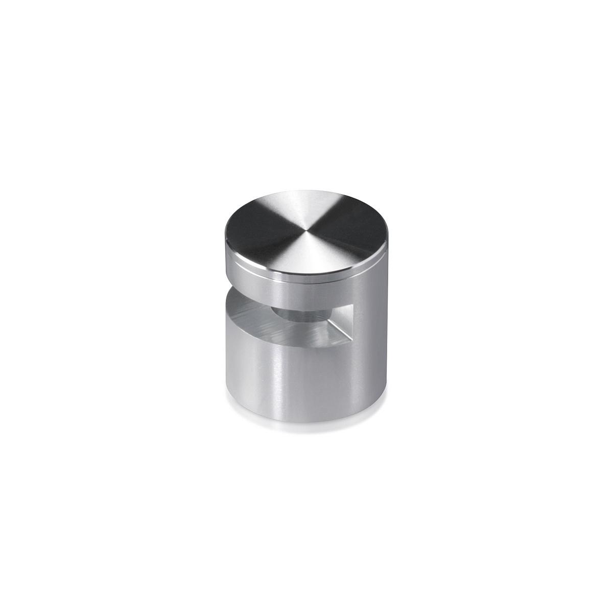 Aluminum Edge Grip, Diameter 1'', Standoff 9/16'' Clear Anodize Shiny Finish