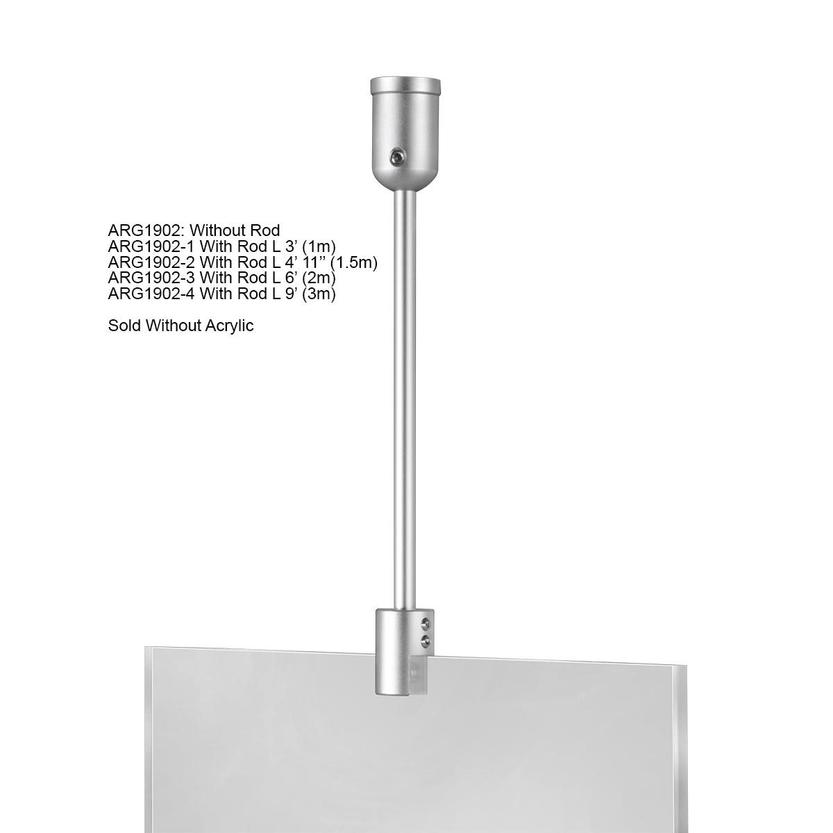 Ceiling Suspended Rod Kit - 9' - Aluminum