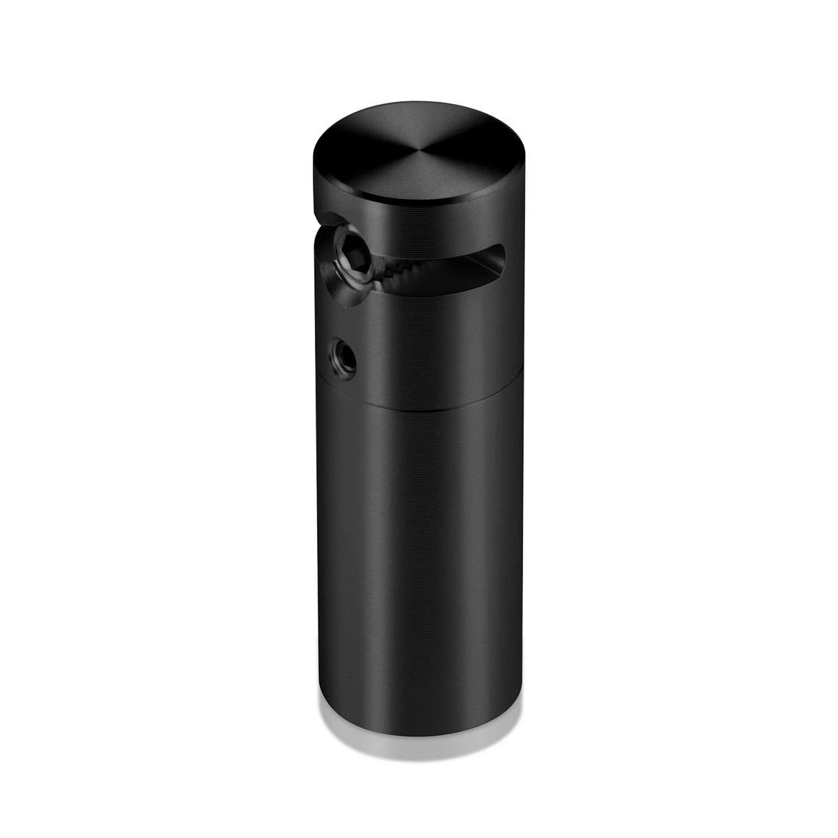 2'' Length x 5/8'' Diameter Aluminum Black Anodized Side Gripping Support for 1/4'' Diameter Rod