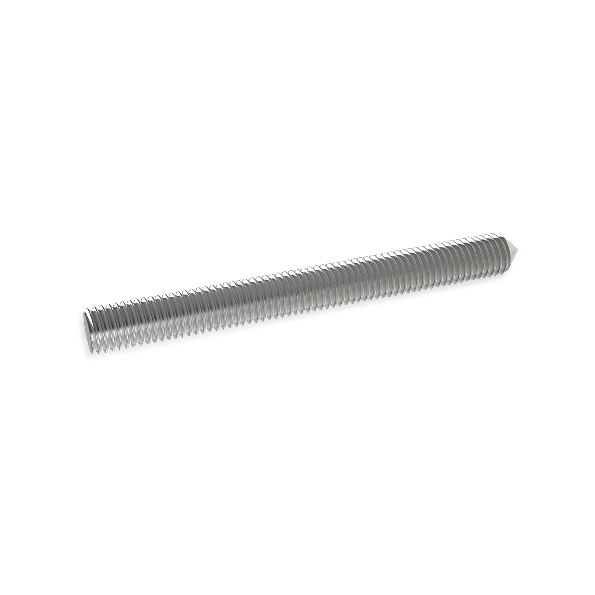 3/16'' Diameter X 5'' Long, Aluminum 10-24 Threaded Stud (1 End Flat - 1 End Conical)