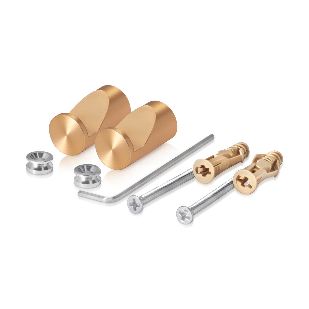 Set of 2 pieces of Cell Phone / Tablet Aluminum Standoffs, Gold Anodized Finish