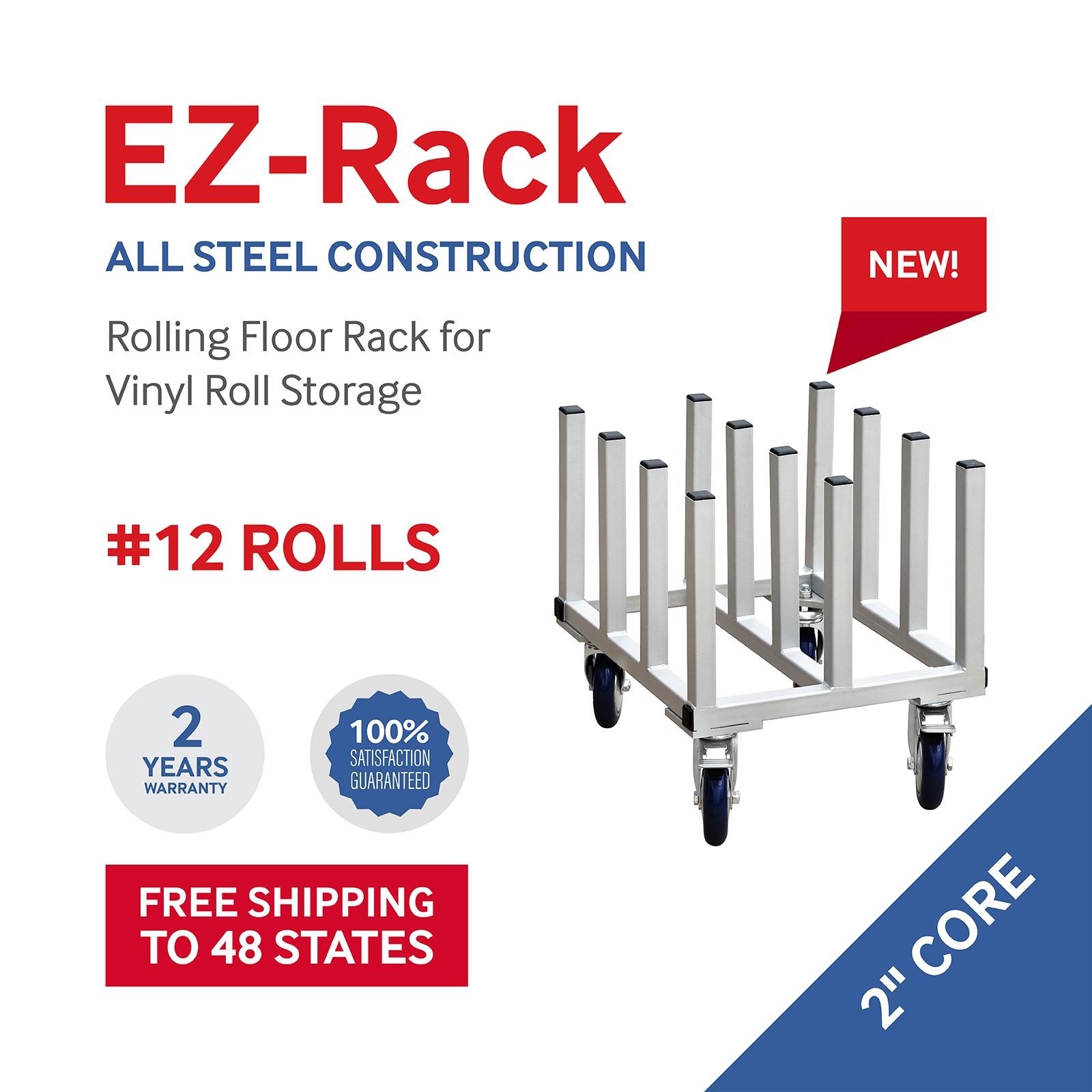 EZ Vertical Vinyl Roller Rack #12