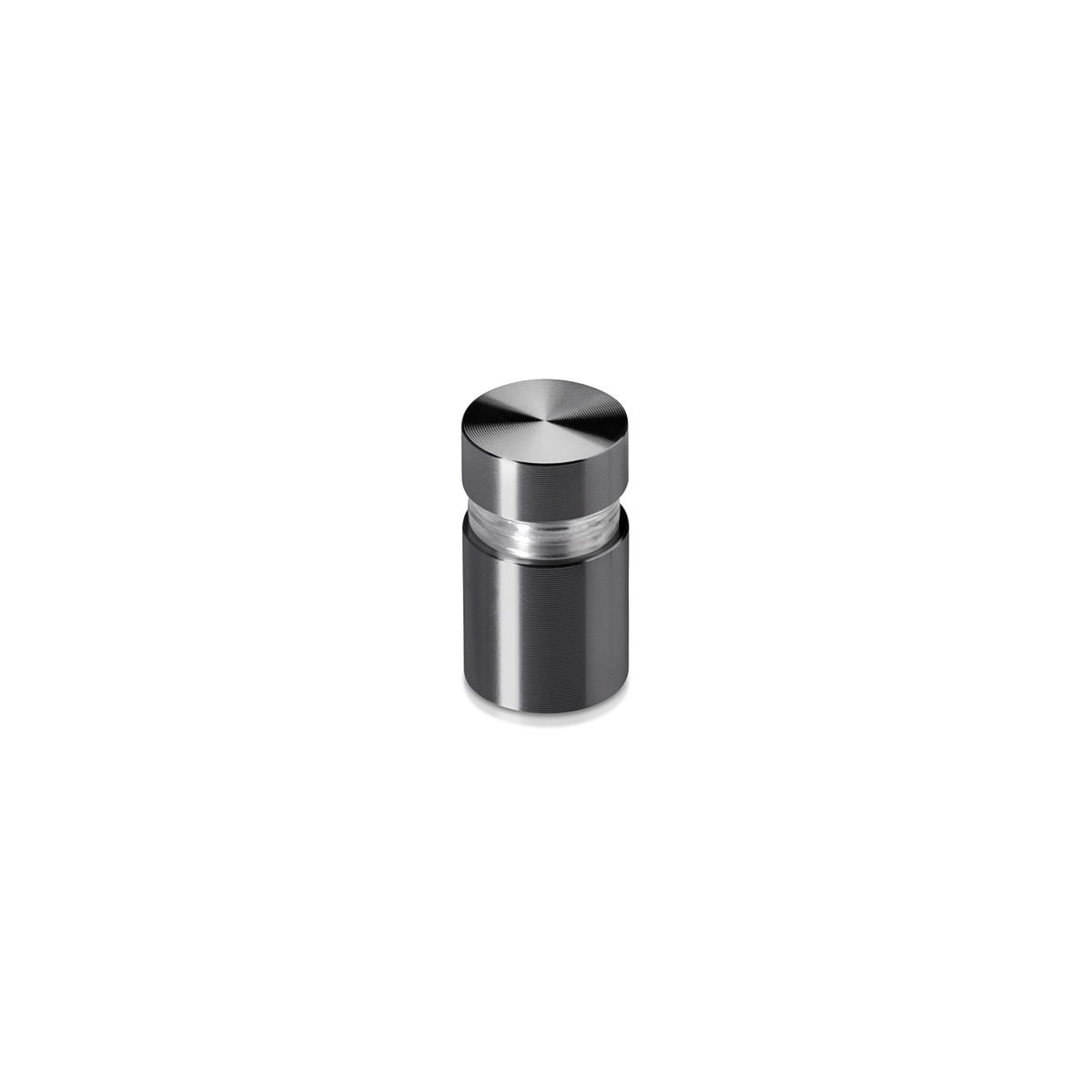 1/2'' Diameter X 1/2'' Barrel Length, Aluminum Flat Head Standoffs, Titanium Anodized Finish Easy Fasten Standoff (For Inside / Outside use) Tamper Proof Standoff