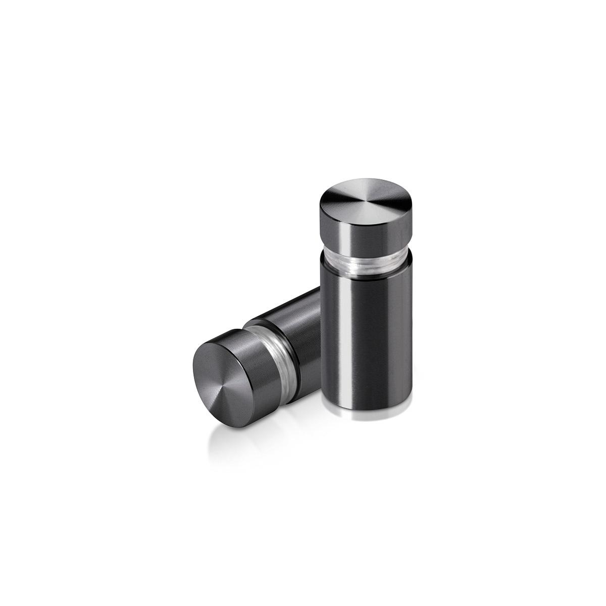 Tamper Proof Aluminum Flat Head Standoffs, Diameter: 1/2'', Standoff: 3/4'', Titanium Finish