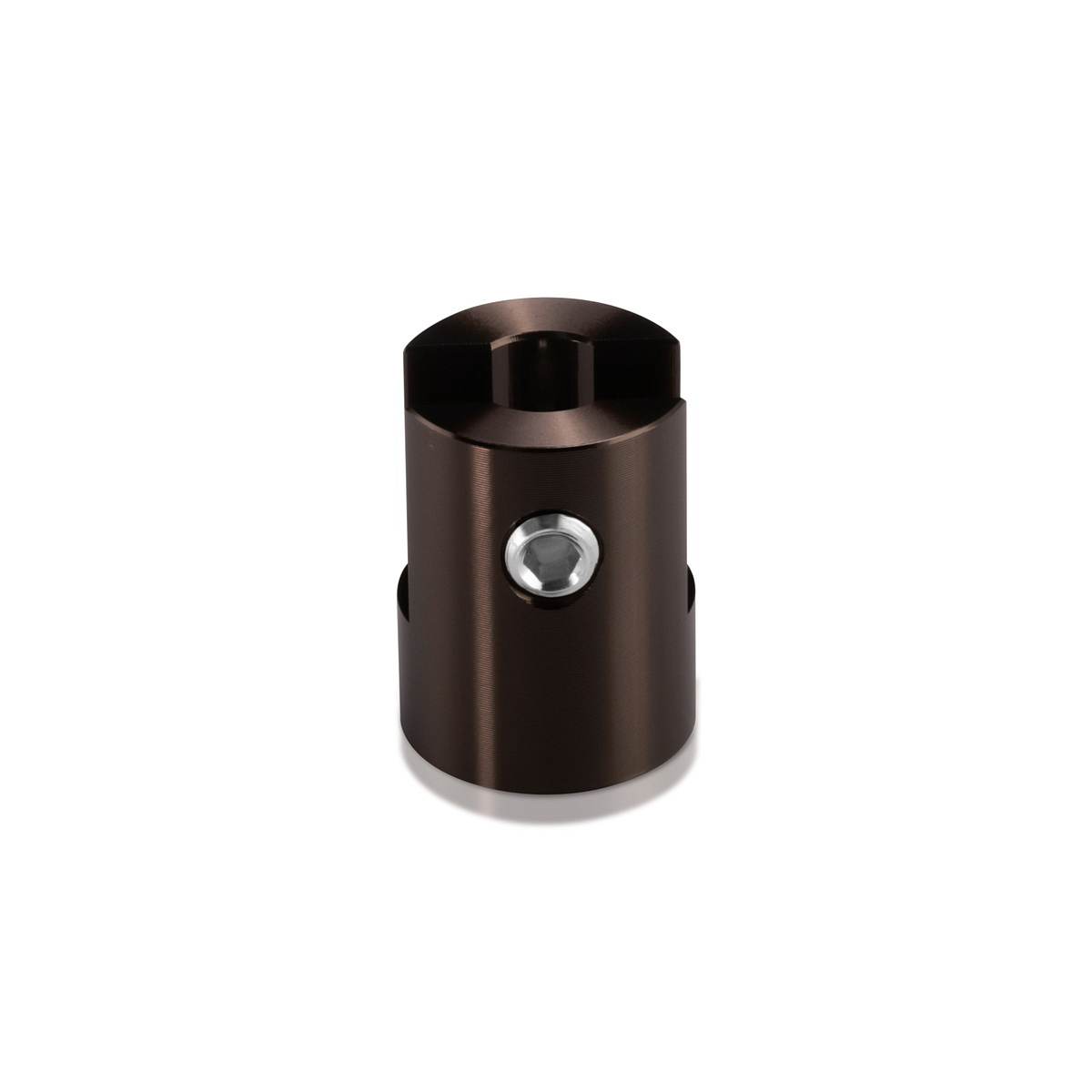Aluminum Bronze Anodized Finish Projecting Gripper, Holds Up To 1/4'' Material