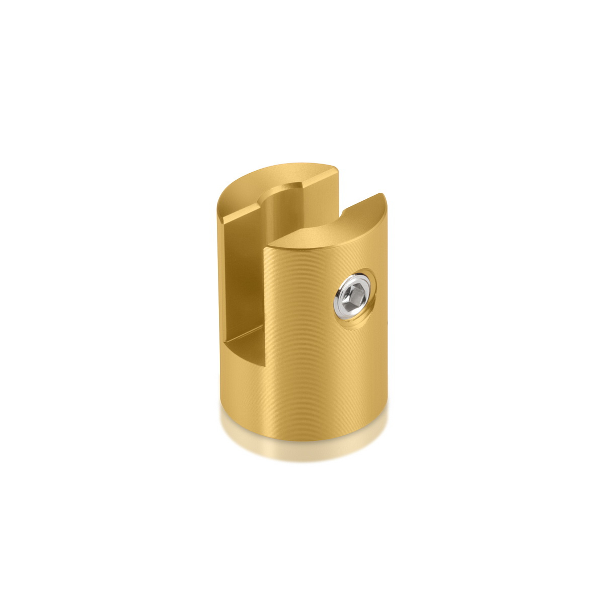 Aluminum Glod Anodized Finish Projecting Gripper, Holds Up To 1/4'' Material
