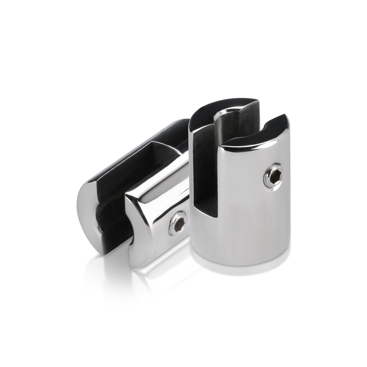 Stainless Steel Polished Finish Projecting Gripper, Holds Up To 1/4'' Material