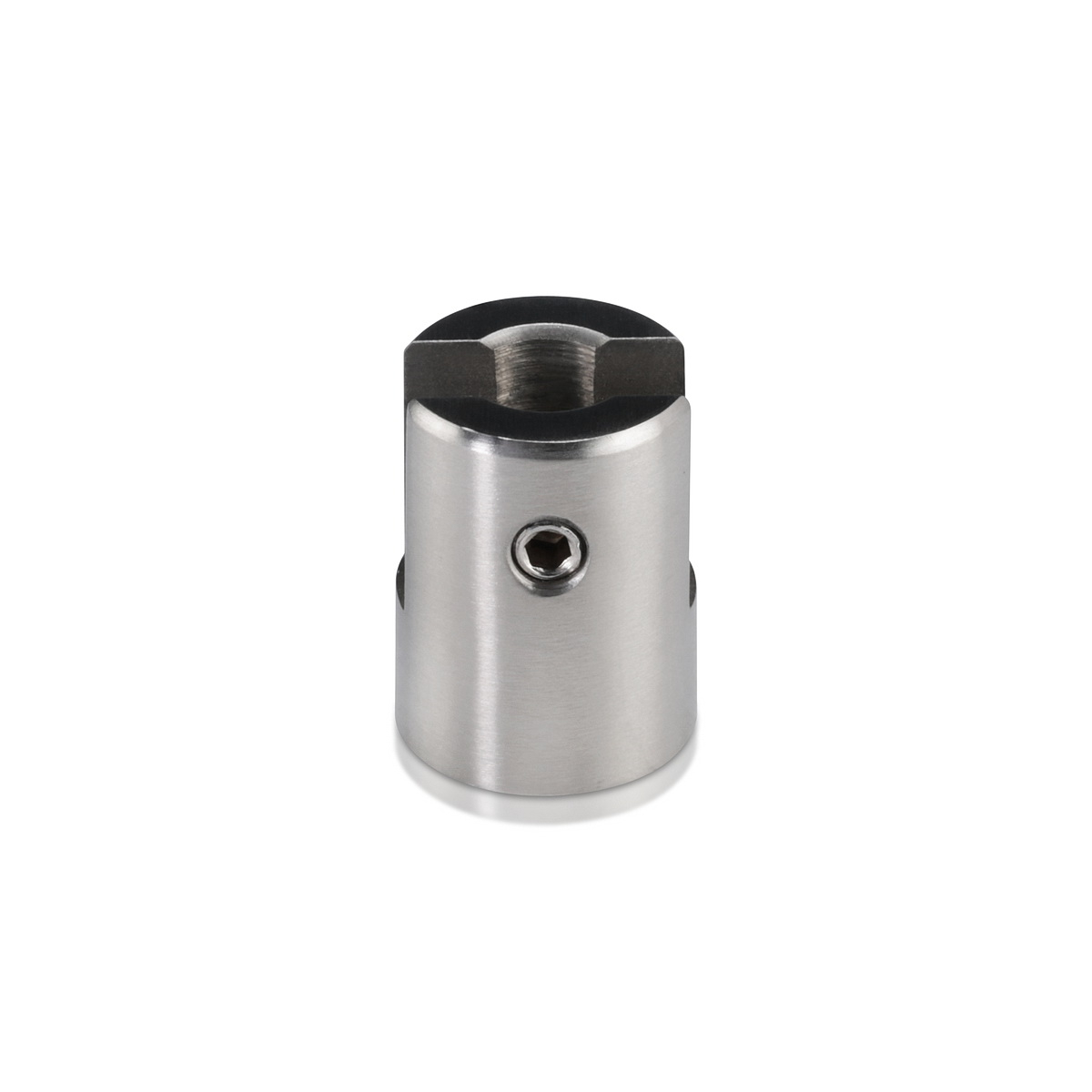 Stainless Steel Satin Brushed Finish Projecting Gripper, Holds Up To 1/4'' Material