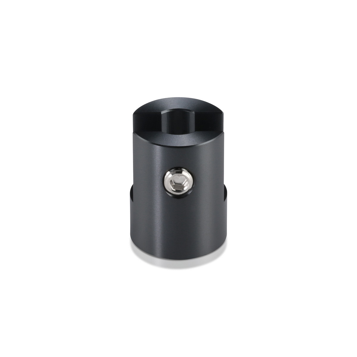 Aluminum Titanium Anodized Finish Projecting Gripper, Holds Up To 1/4'' Material