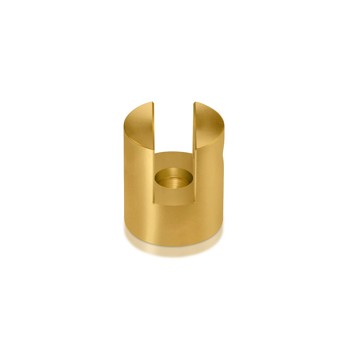 Aluminum Gold Finish Projecting Gripper, Holds Up To 3/8'' Material