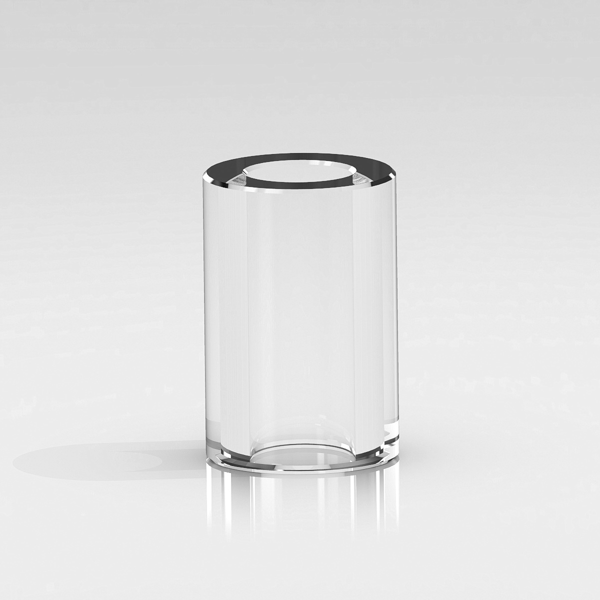 Clear Plastic Tubing, 3/8'' OD x 1/4'' ID x 3/8'' Length. (For 1/4-20 Stud)