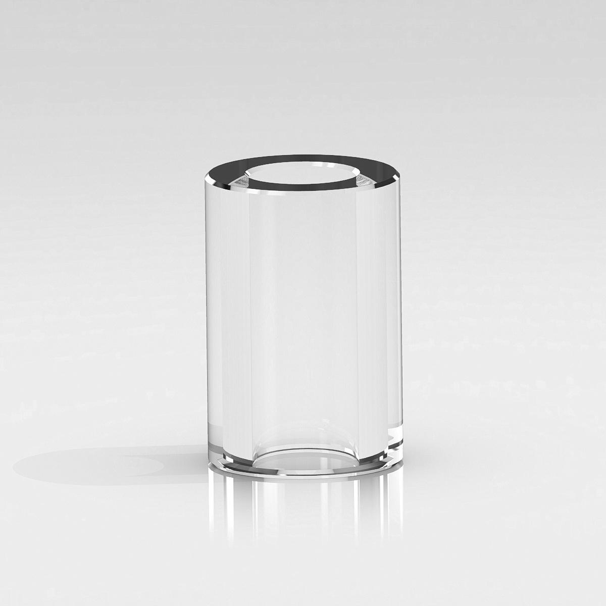 Clear Plastic Tubing, 3/8'' OD x 1/4'' ID x 3/4'' Length. (For 1/4-20 Stud)