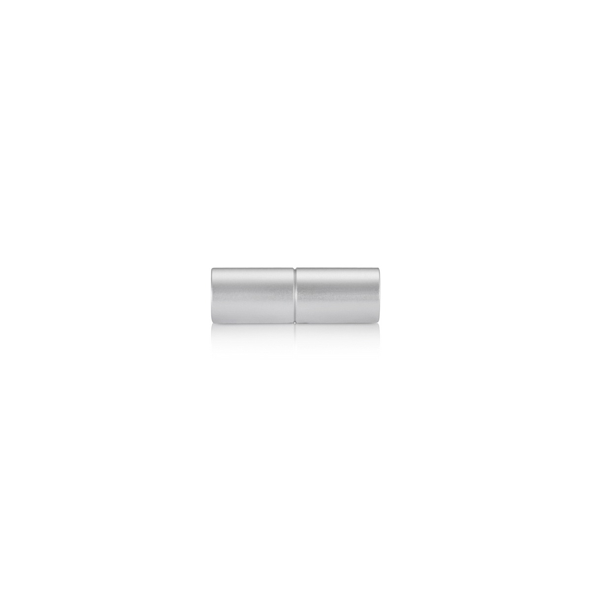 3/8'' Aluminum Clear Anodized 3/8'' Diameter Rod End Screw Set, Reverse Thread (Inside use only)