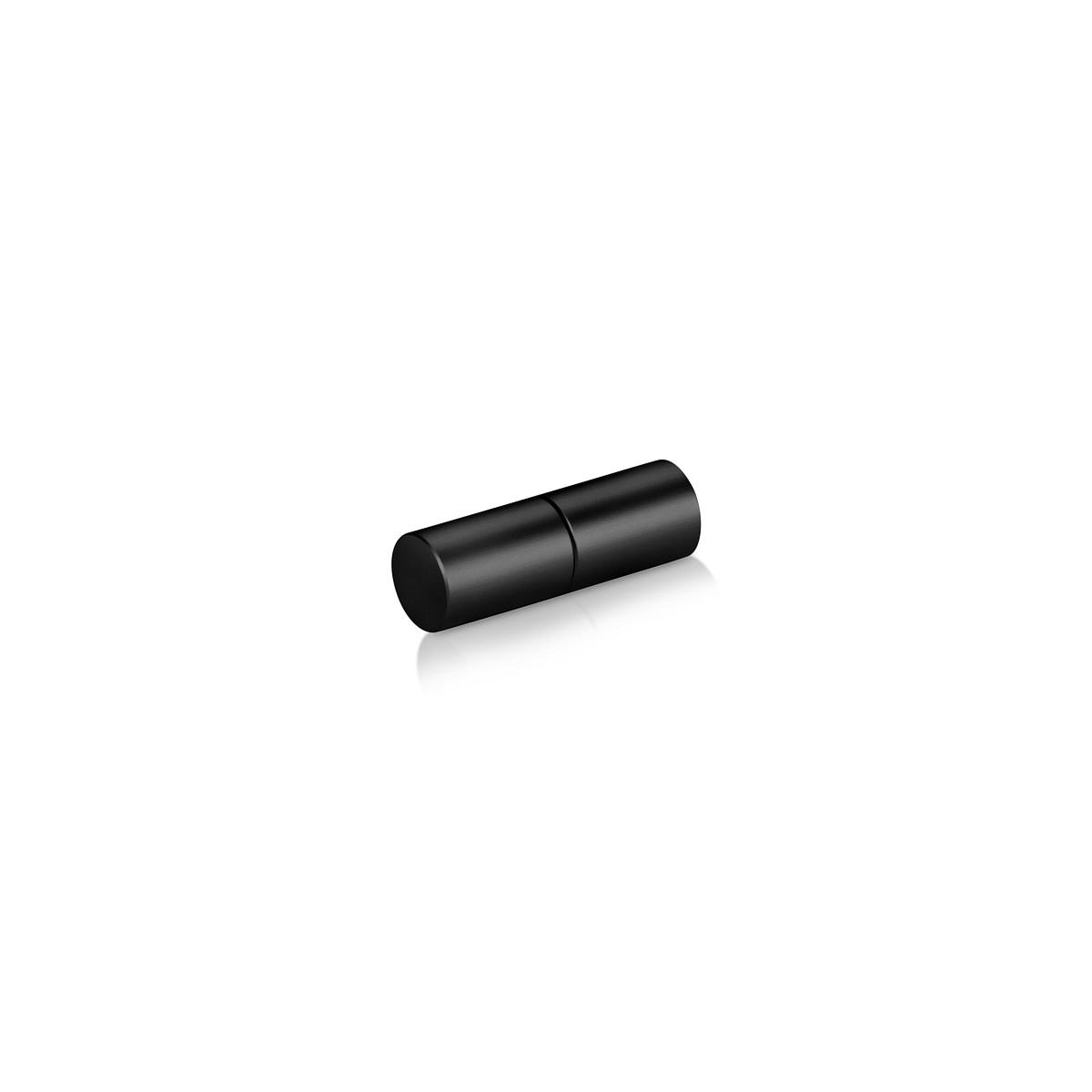 3/8'' Aluminum  Black Matt Anodized 3/8'' Diameter Rod End Screw Set, Reverse Thread (Inside use only)