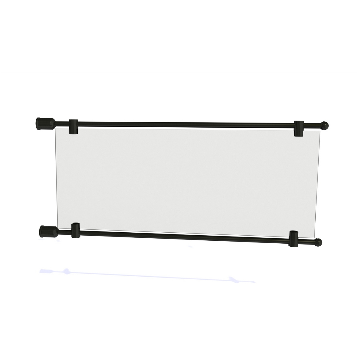 """3/8'' Diameter Rod Projecting Sign, Aluminum Black Matte Anodized , 21 13/16"""" including the wall mounts. Material thickness up to 5/16"""""""
