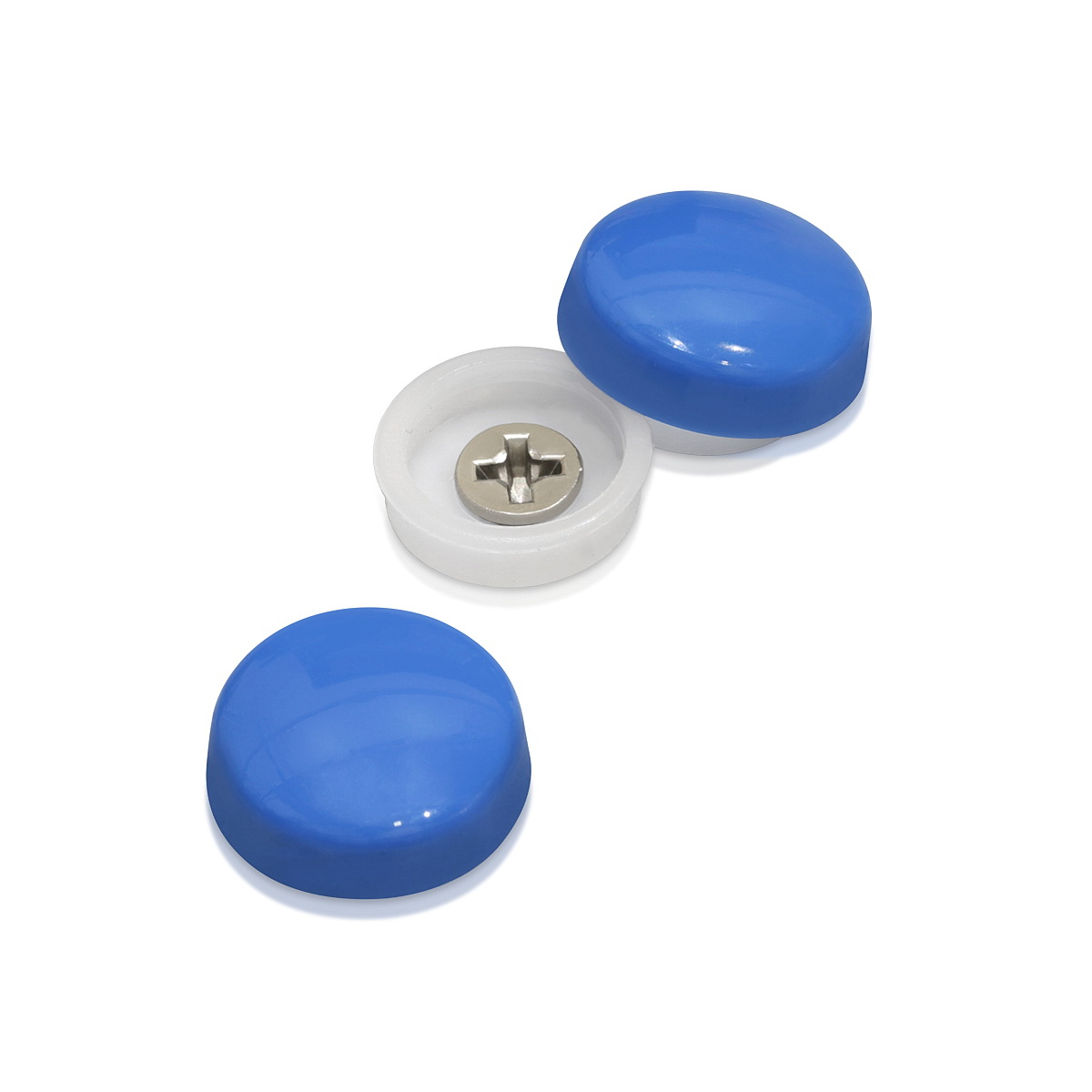 Snap-Cap For Screw #10 & #12 - Caspian Blue Gloss