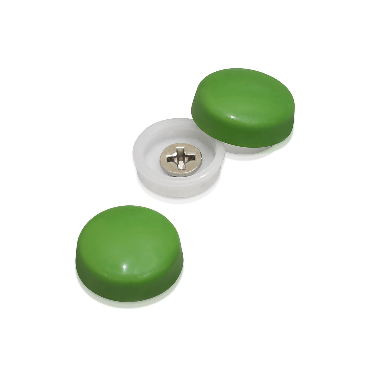 Snap-Cap For Screw #10 & #12 - Fern Green Gloss
