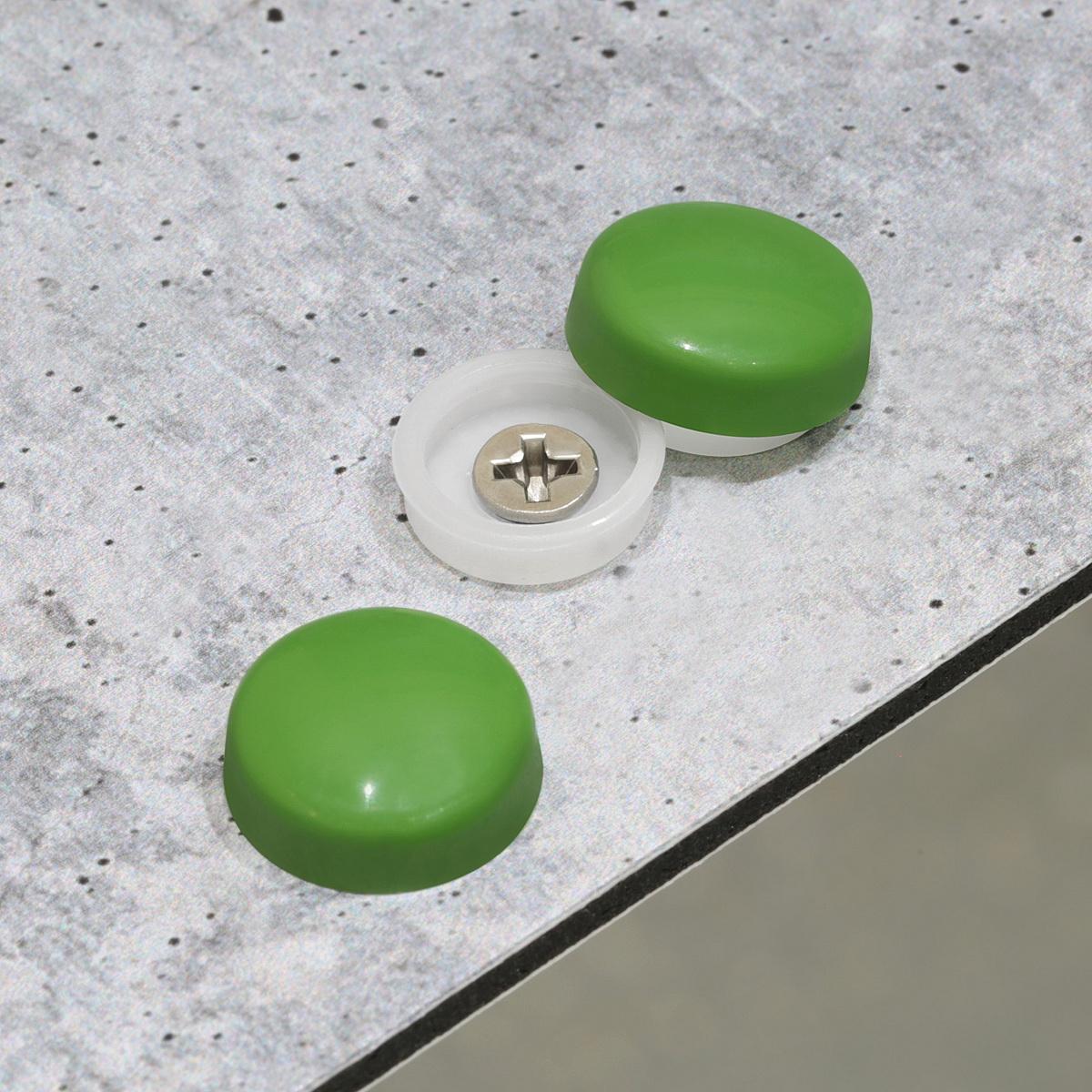 Snap-Cap For Screw #10 & #12 - Fern Green Gloss