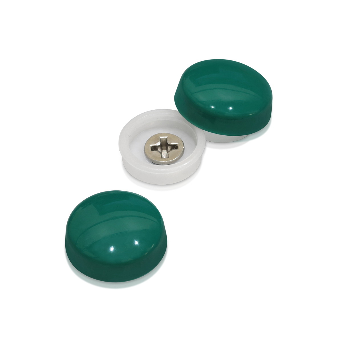 Snap-Cap For Screw #10 & #12 - Forest Green Gloss