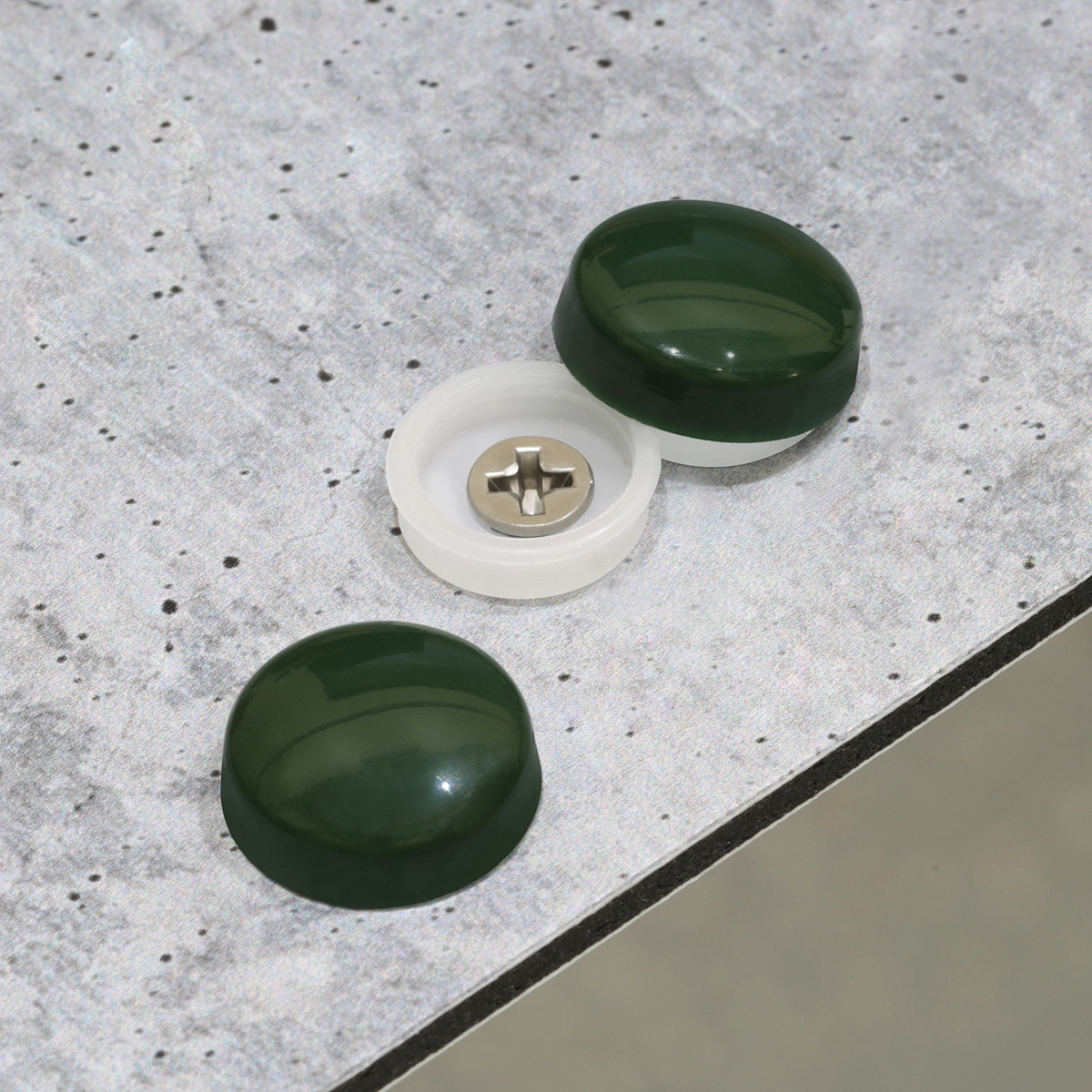 Snap-Cap For Screw #10 & #12 - Heritage Green Gloss