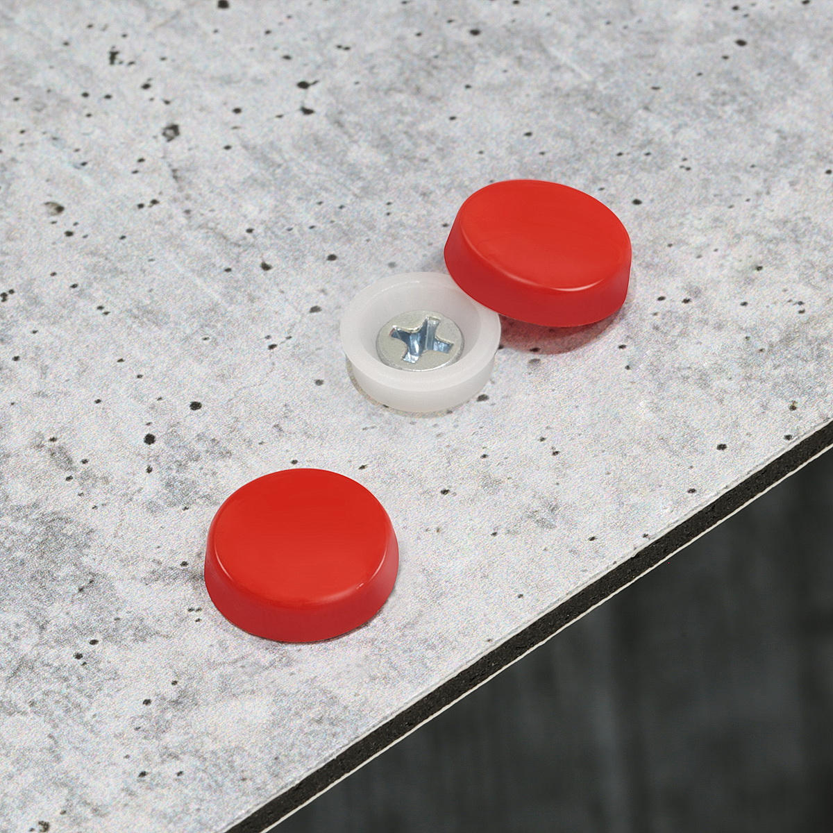 Snap-Cap For Screw #10 & #12 - Red Gloss
