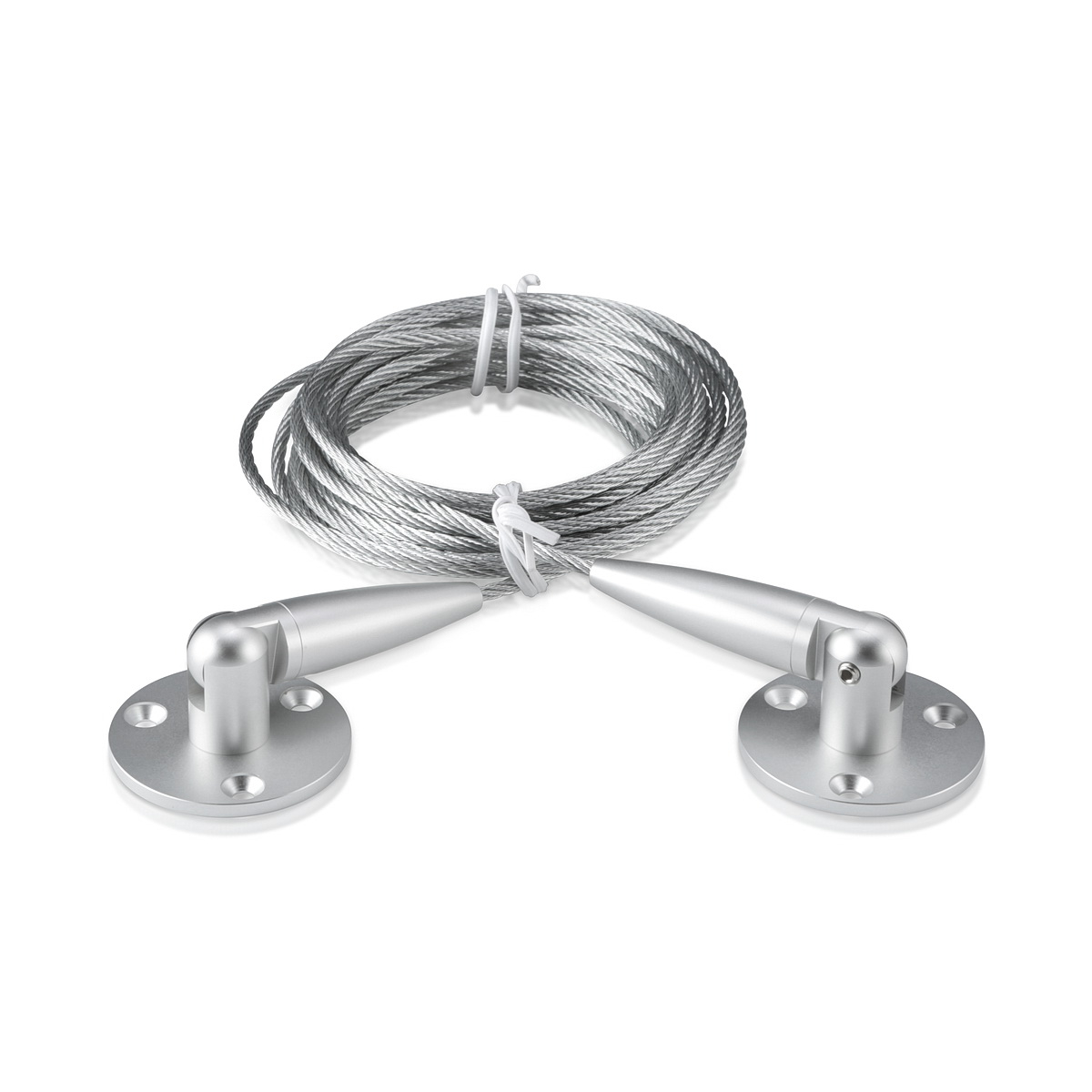 Signature Cable Systems, Aluminum Clear Anodized Kit (included 1 x Bottom, 1 x Top Adjustable Angle, 1 x Steel Cable 1/8'' Length 13' 1'')