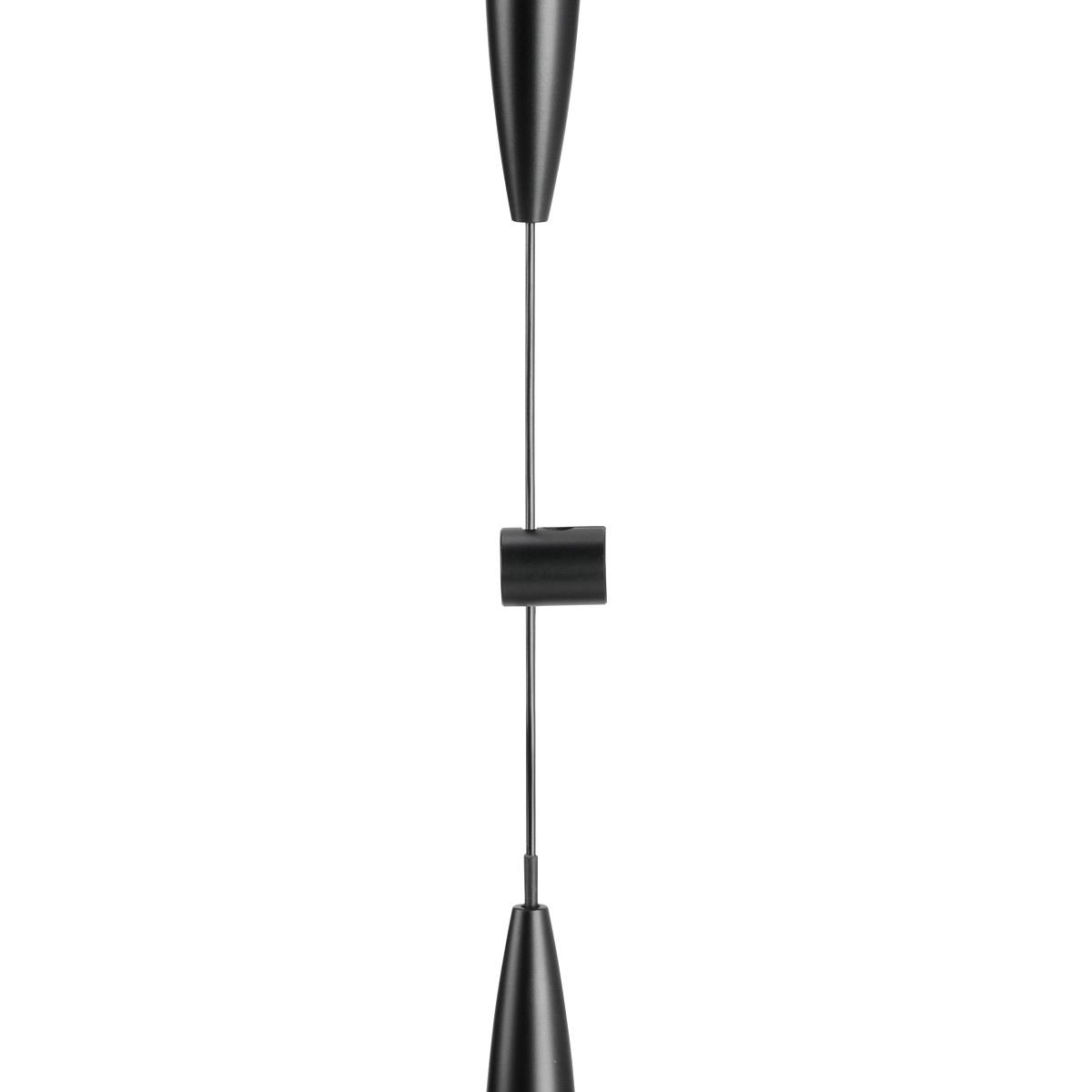 Left Wine Cellar Aluminum Cable Support one end Matte Black