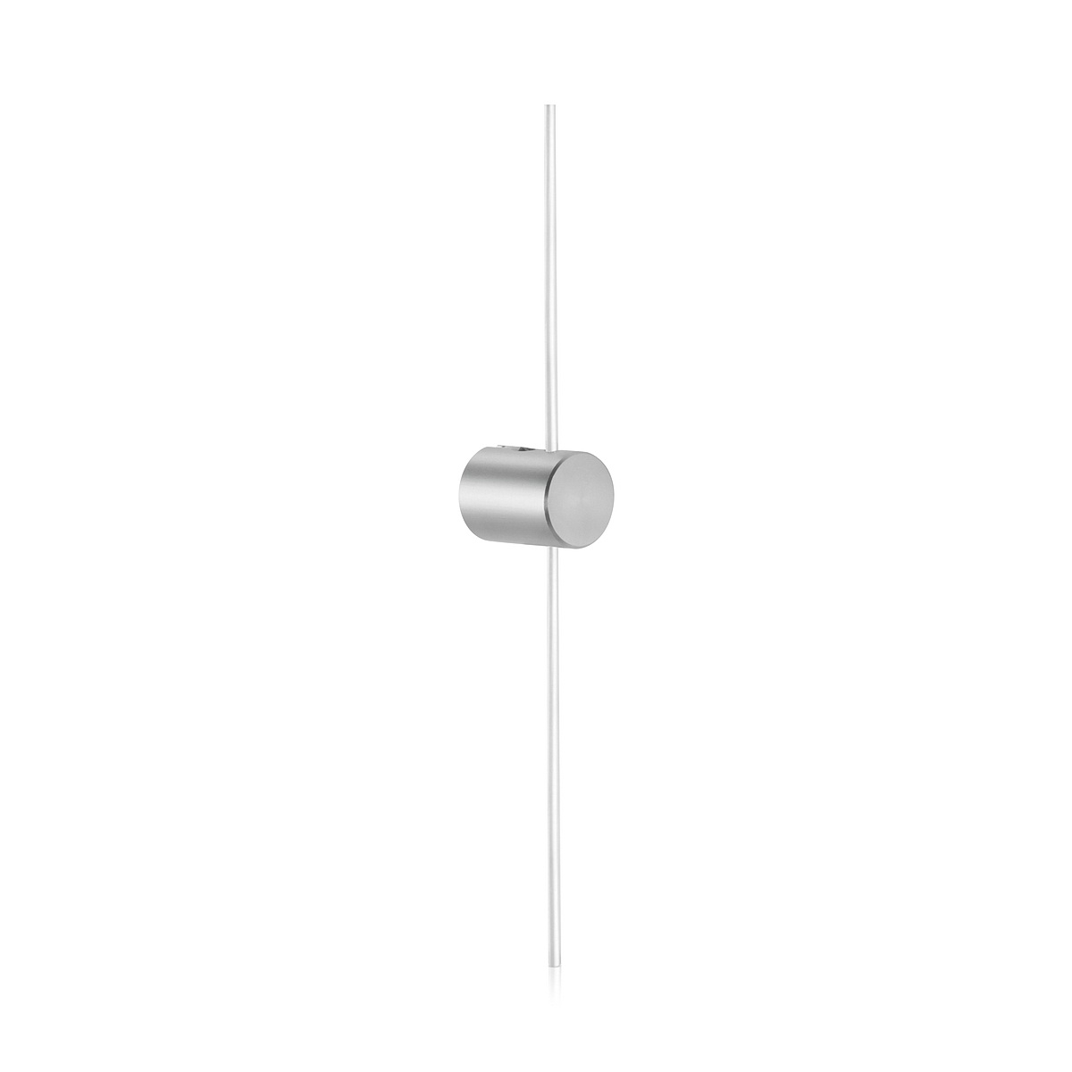 Right Wine Cellar Aluminum Cable Support one end Clear Anodized