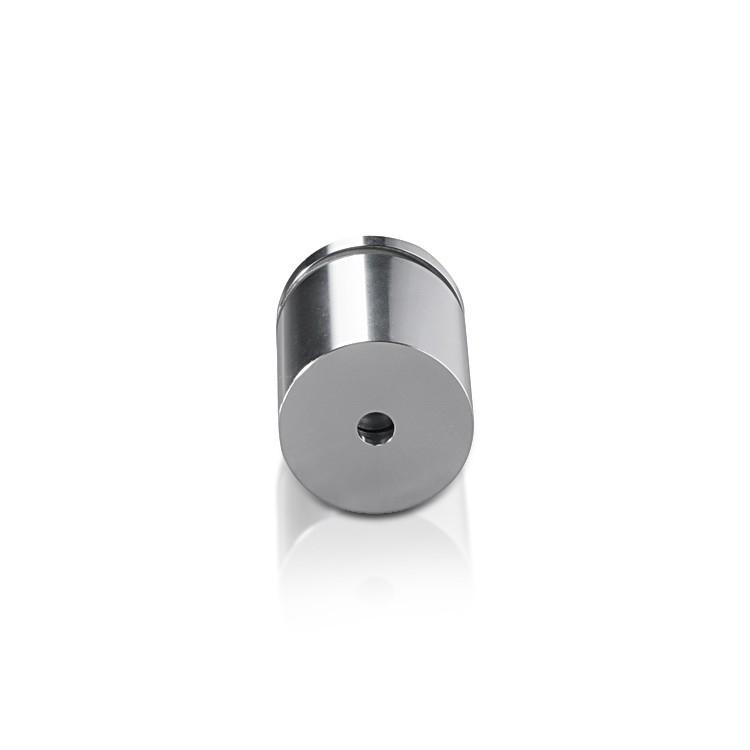Aluminum Standoffs, Diameter: 1, Standoff: 1'', Aluminum Clear Anodized Shiny Finish