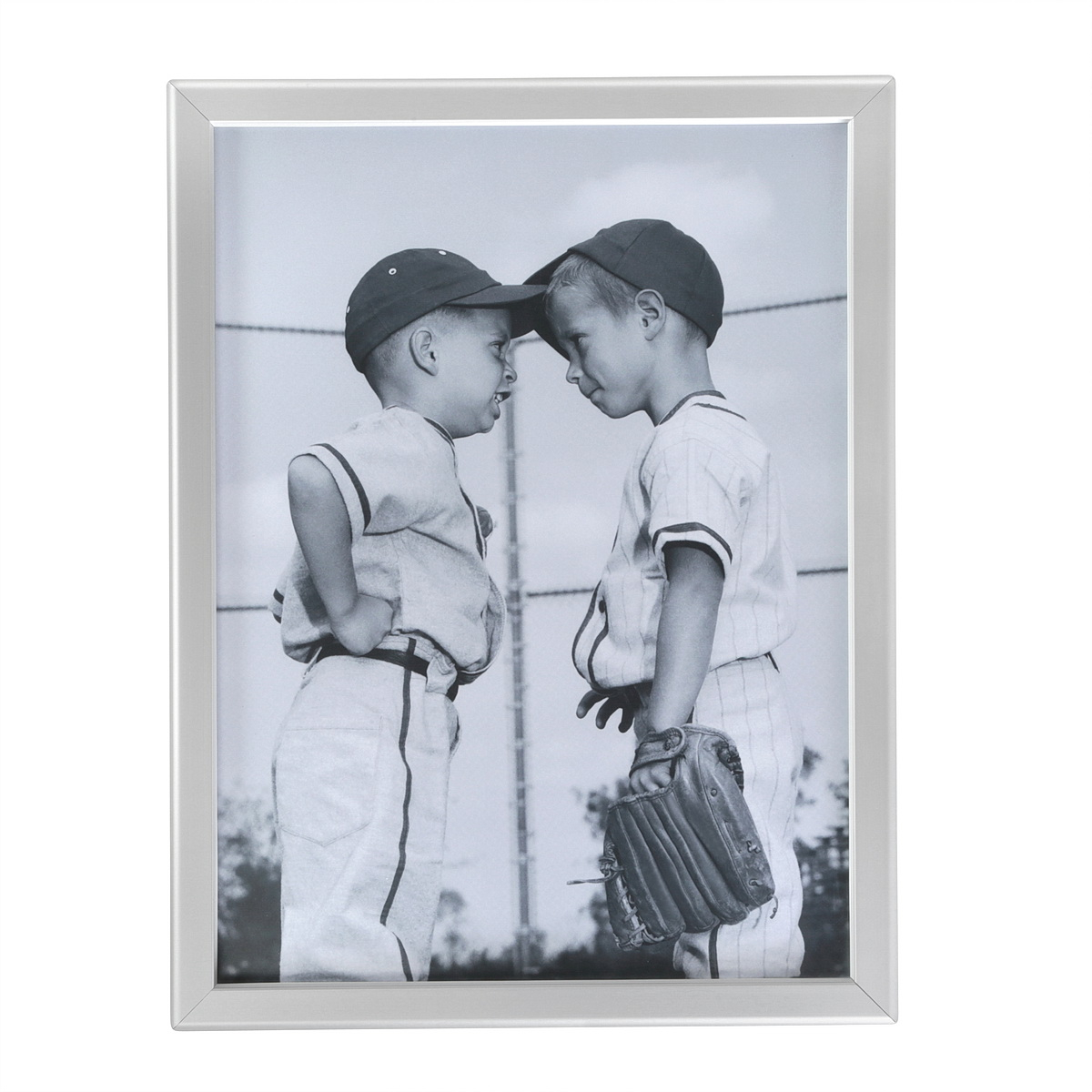 Aluminum Front Load Easy Snap Wall Poster Frame, Silver, 1.25'' profile, 11''x17''