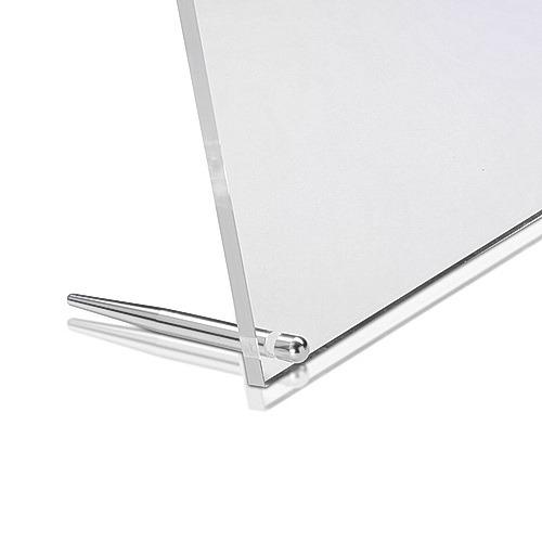 Aluminum Clear Shiny Anodized Desktop Table Standoffs, Diameter: 1/4'' x 3''