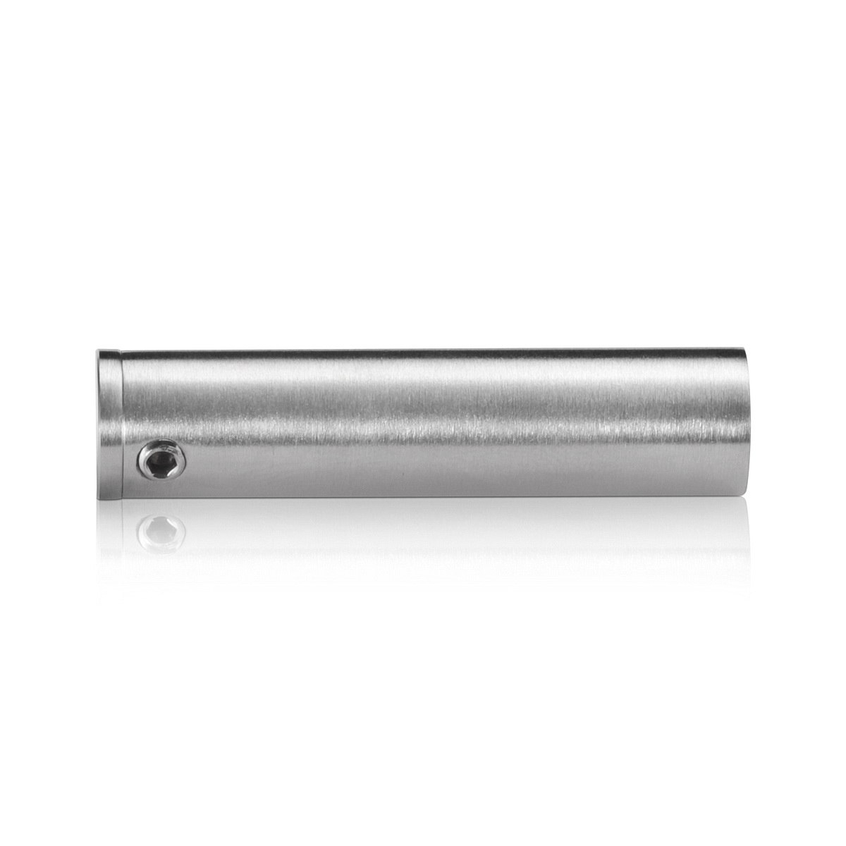 1/2'' Diameter x 2'' Barrel Length, Aluminum Glass Standoff Clear Anodized Finish (Indoor or Outdoor Use)