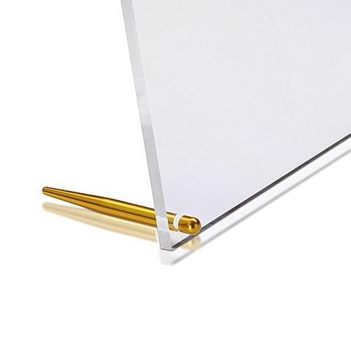 Aluminum Gold Anodized Desktop Table Standoffs, Diameter: 1/4'' x 3''