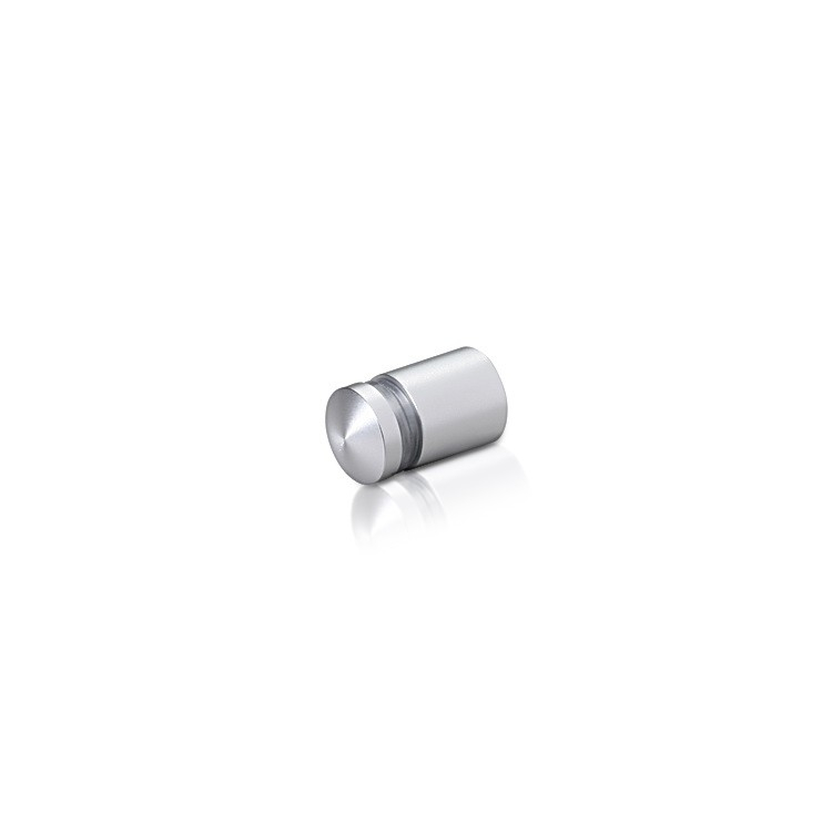 1/2'' Diameter X 1/2'' Barrel Length, Aluminum Rounded Head Standoffs, Clear Anodized Finish Easy Fasten Standoff (For Inside / Outside use)