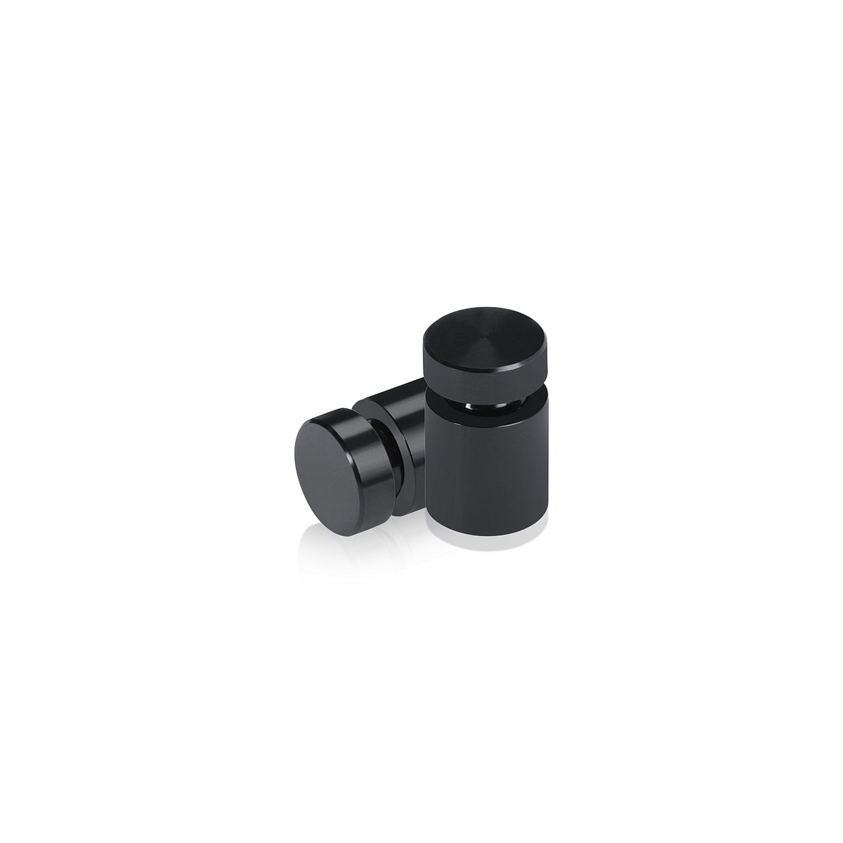 1/2'' Diameter X 1/2'' Barrel Length, Affordable Aluminum Standoffs, Black Anodized Finish Easy Fasten Standoff (For Inside / Outside use)