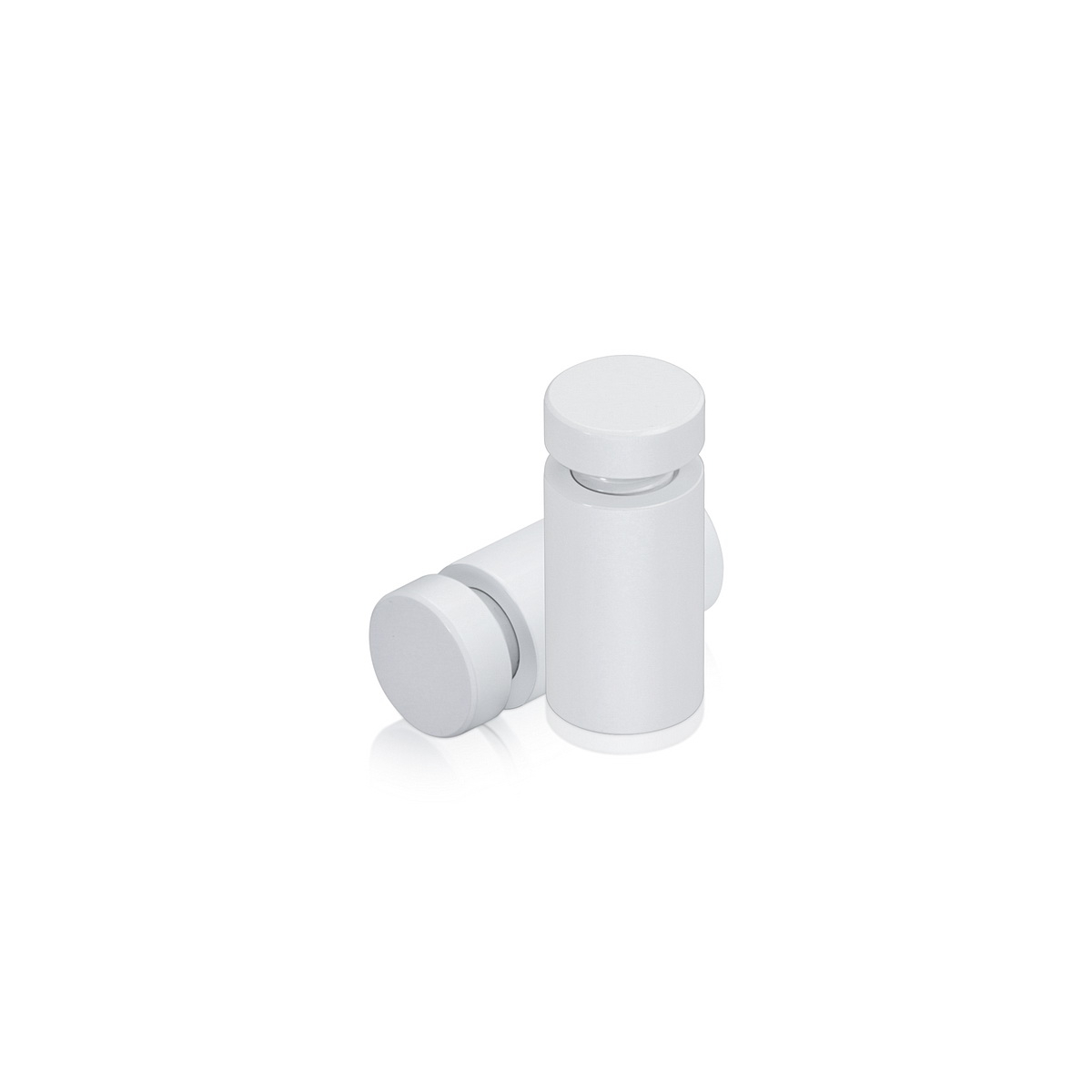 Affordable Aluminum Standoffs, Diameter: 1/2'', Standoff:  3/4'', Aluminum White Coated Finish