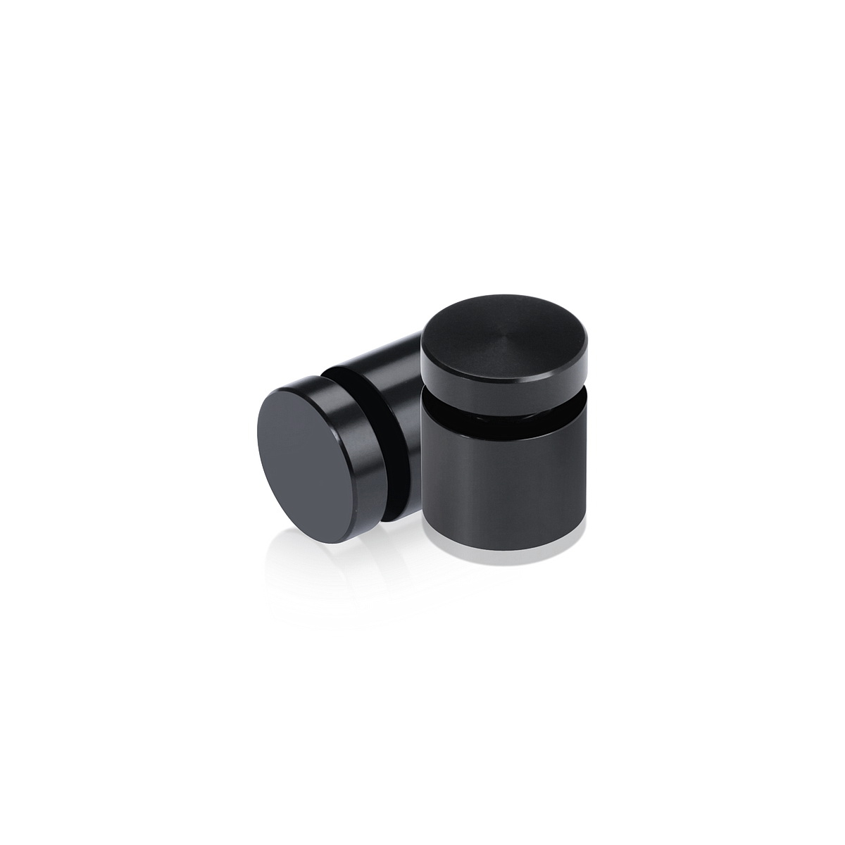 Affordable Aluminum Standoffs, Diameter: 5/8'', Standoff:  1/2'', Aluminum Black Finish